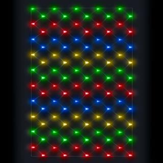 100 Indoor or Outdoor Multi-Colour LED Connectable Net Light