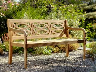A hardwood 3 seater garden bench.