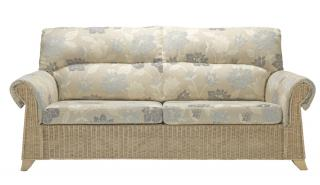 The Desser Clifton Three Seater Sofa features delicate cane weaving with a natural glossy finish.