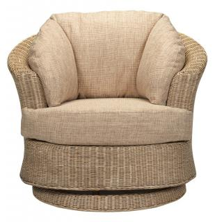The Desser Lyon Swivel Armchair is a great alternative to the traditional armchair.
