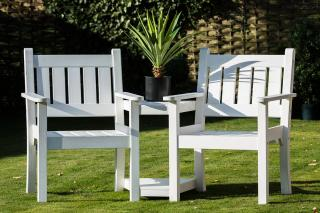 Norfolk Leisure Close To Me Duo Seat - White