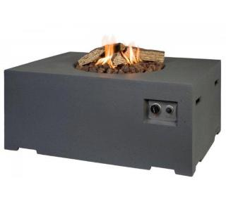 This large gas fire pit will bring the warmth of a gas fire to your garden or patio.