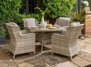 Norfolk Leisure Cordona 4 Seat Dining Set (Parasol & Base not shown)