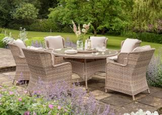 Norfolk Leisure Cordona 6 Seat Dining Set (Parasol & Base not shown)