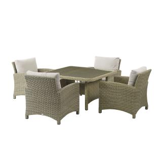 The stylish Naunton Manor Cotswold Casual Dining Table with Sofa Armchairs is ideal for the garden or patio.