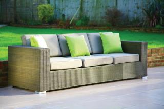Westminster Code CUBS303. A stylish 3 seater sofa with Sunbrella cushions.