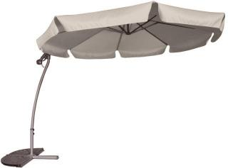 This is a free arm parasol which comes in Linen only, wafer base not included.