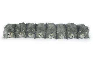 The Posh Bertie Bristle's Family Draught Excluder is a contemporary version of Bertie Bristle. Code DEDOT33.