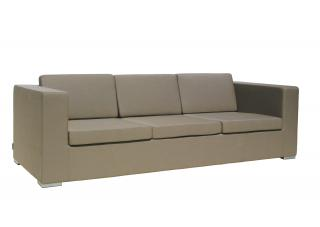 Westminster Code DESE301. An all weather lounge settee for three upholstered with Sunbrella fabric.