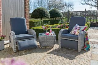 LIFE Outdoor Living Diva Duo Set in Yacht Grey