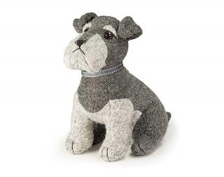 This grey & black coloured boucle dog doorstop is perfect for Schnauzer lovers. Code DSND03.