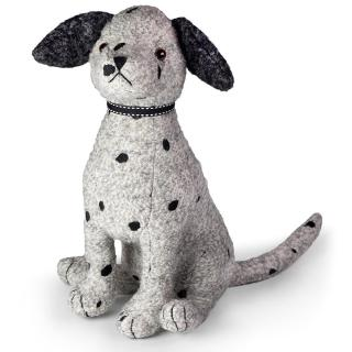 This grey & black coloured boucle dog doorstop has plenty of character. Code DSND09.
