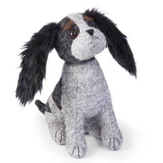 This grey & black coloured boucle dog doorstop has plenty of character. Code DSND11.