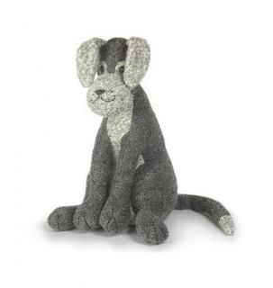 This grey & black coloured boucle dog doorstop has plenty of character. Code DSND18.