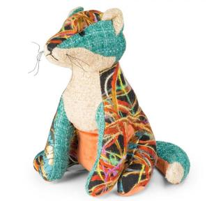 This Patchwork Fox Doorstop is part of the bright patchwork range from Dora Designs. Code DSPCH03.