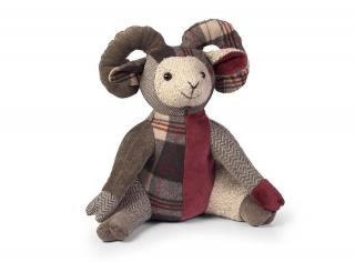 This Patchwork Ram Doorstop is part of the bright patchwork range from Dora Designs. Code DSPCH06.