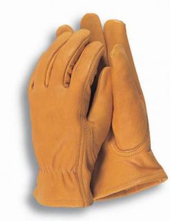 Mens Premium Leather Garden Gloves