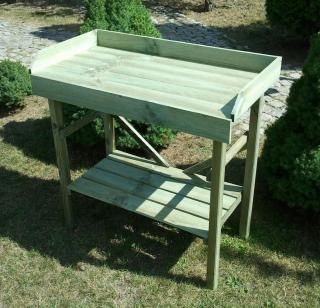This versatile Economy Potting Table does exactly what it says on the label. It won't break the bank but is definately worthy of being in any garden.