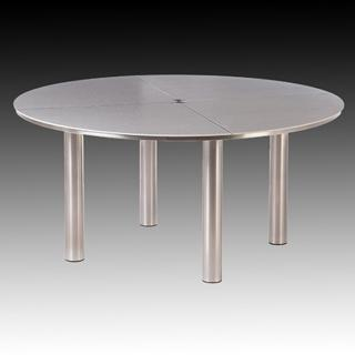 Barlow Tyrie Code 2EQC15 The contemporary Equinox 150cm Round Dining Table comes in a choice of three colours.