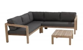 4 Seasons Outdoor Evora Teak 5 Seat Corner Set