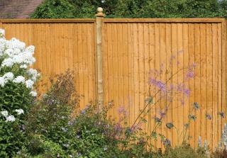 This heavy duty close boarded fence is one of Forest's strongest.