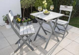 Norfolk Leisure Florenity Grigio Bistro Set