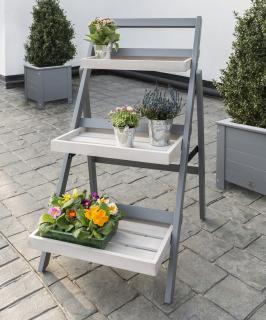 Norfolk Leisure Florenity Grigio Folding Pot Shelf