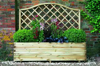 The Forest Venice Planter is a simple planter with decorative integrated curved trellis.