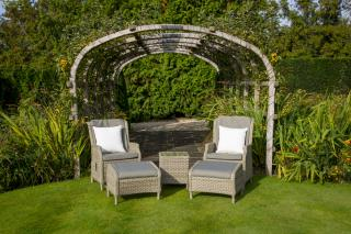 This stunning Frampton Recliner Set is the perfect set for relaxing within the garden.