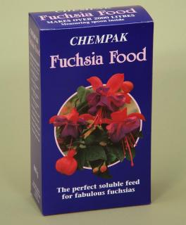 Chempak Fuchsia Food (800g). Chempak Fuchsia Food will produce the very best plants. Fully soluble, the formula will start to work instantly.