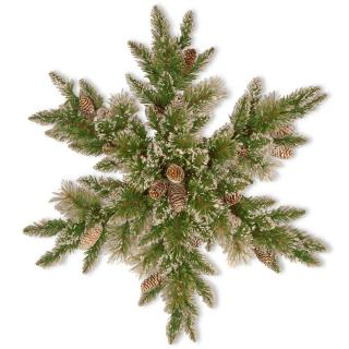 This artificial Christmas snowflake will make a great display with its snowy branches & cones.