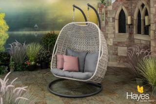 Supremo Genoa Double Cocoon Hanging Chair with Cushions and Free Cover