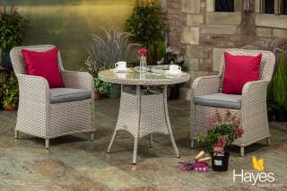 The Supremo Genoa 80cm Bistro Set is fantastic value for money and is ideal for the smaller garden or patio.