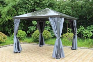 Norfolk Leisure Runcton Square Gazebo 3m in Anthracite