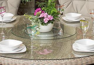 4 Seasons Outdoor Glass Lazy Susan