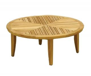 Westminster Code GRA900. A round teak coffee table to complement the Grace range of garden furniture.