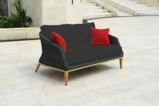 Westminster Grace 2 Seater Sofa in Ebony/Slate