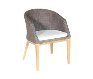 Westminster Code GRDA104. A matching woven & teak dining armchair with seat cushion for the Grace range.
