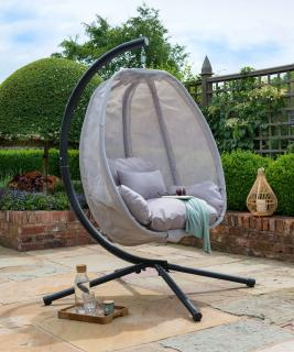 Norfolk Leisure Folding Textilene Hanging Cocoon in Grey