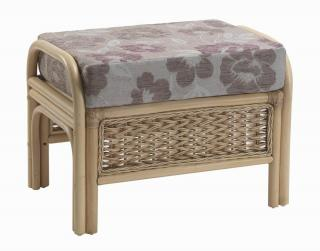 The contemporary Harlow Footstool would sit elegantly in any conservatory.