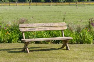 The Harriet Bench would complement gardens and recreational areas.
