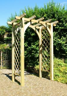 The attractive Horizon Arch is ideal for either standing along or dividing your garden into sections.