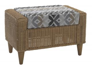 The contemporary Hudson Footstool is ideal for limited spaces.