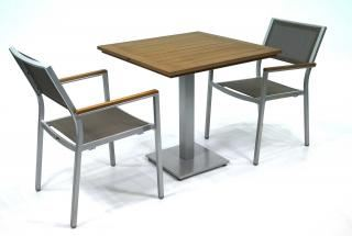 Supremo Melbourne Sling Chair with Resysta Bistro Table Set