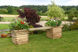 The Isabel Planter Bench with double planters is a great way of injecting colour into the garden.