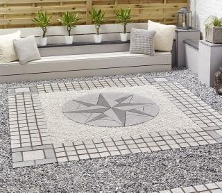 The Kelkay Granite 1.8m Star Patio Kit will make a brilliant centrepiece for your garden.