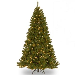 8ft Pre-lit Keswick Spruce Artificial Christmas Tree