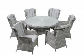 LIFE Outdoor Living King Six Seat Set in Yacht Grey