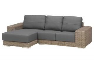 4 Seasons Outdoor Kingston Modular Chaise 3 Seat Set in Pure