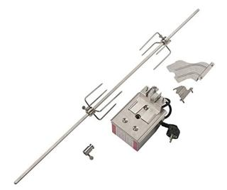 This rotisserie skewer can be used with all Weber Rotisserie accessories to expand your options with the gas grills.